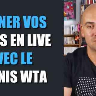 Gagner vos paris en live avec le tennis féminin WTA