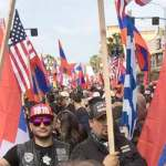 Los Angeles Thousands of LA Armenians march toward Turkey consulate