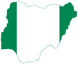 Nigeria Flag Map