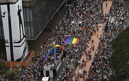 Gay Pride San Paolo Brasile 2016