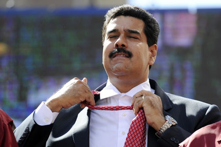 Nicolas Maduro foto: LEO RAMIREZ/AFP/Getty Images)