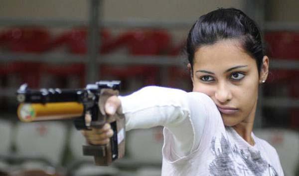 La campionessa di tiro indiana, Heena Sidhu