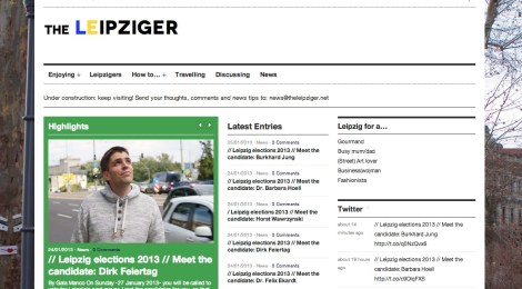 Home page of the Leipziger on January 25 2013