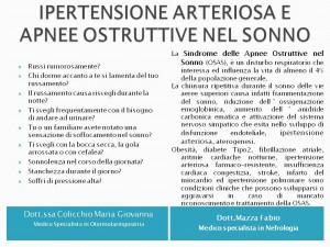 Ipertensione Arteriosa e  apnee notturne