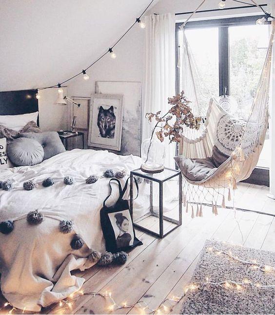 Arredamento camera da letto boho chic moderna e romantica