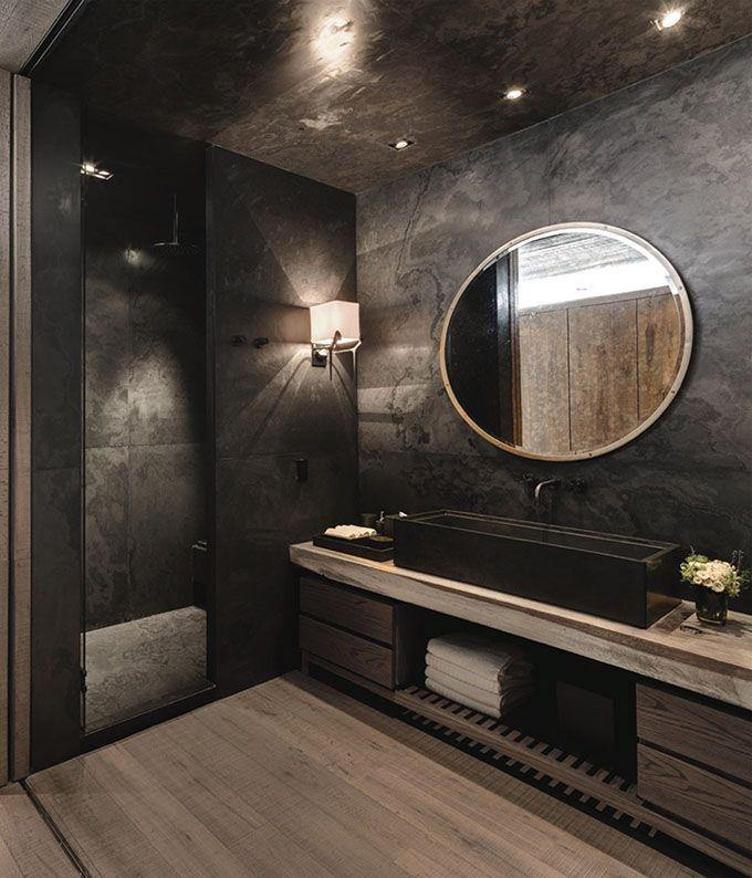 Come arredare un bagno moderno grigio scuro: idee per rivestimenti bellissimi