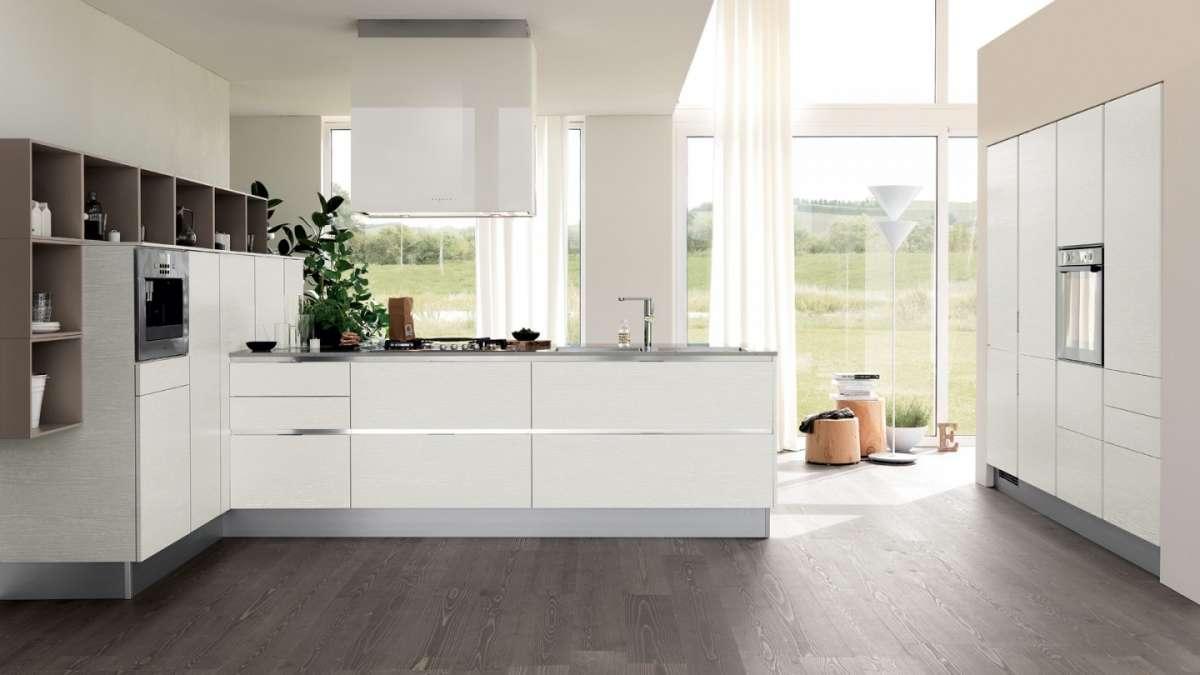 Cucina Moderna Bianca Con Top Grigio.Come Arredare Una Cucina Moderna Bianca 100 Immagini Mozzafiato