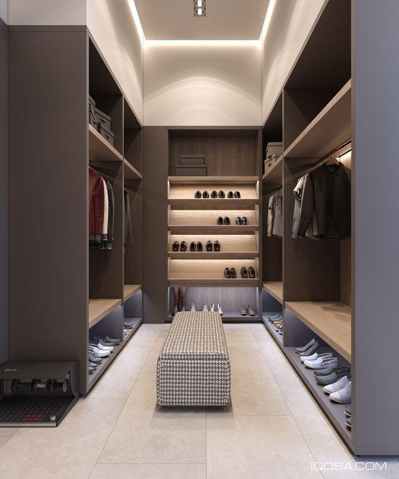 Progettare una cabina armadio stanza lunga e stretta