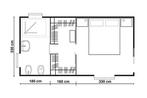 Progettare una cabina armadio tra bagno e letto