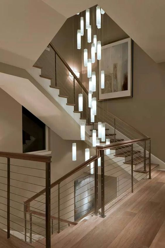 illuminazione moderne scale condominiali