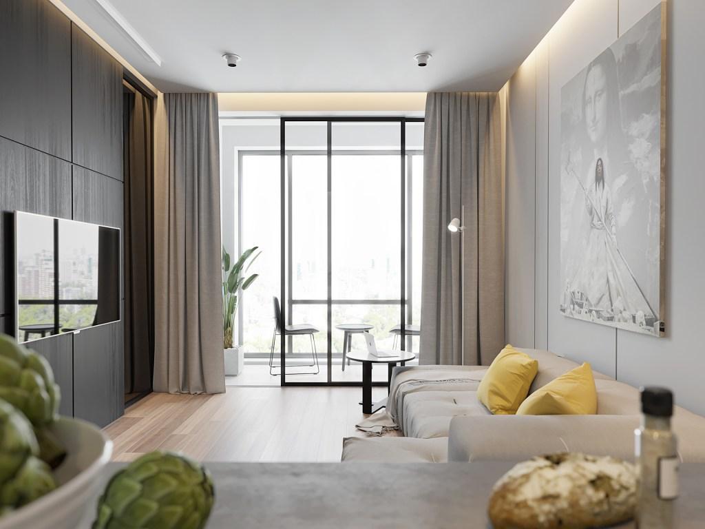 Illuminazione soggiorno moderno