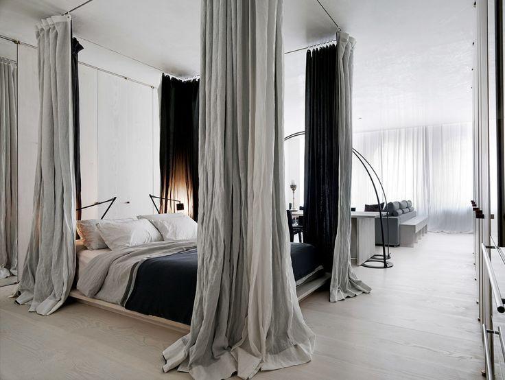 Come arredare una camera da letto modernacon tende
