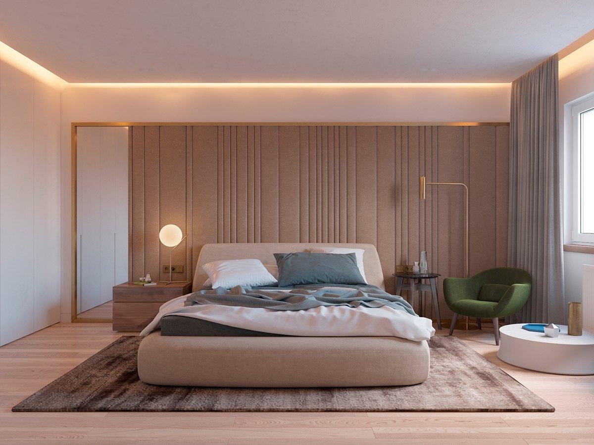 Parete Grigia Camera Da Letto dipingere camera da letto: 5 coppie di colori che funzionano