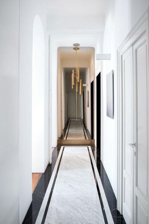 pavimento marmo anni 70 corridoio
