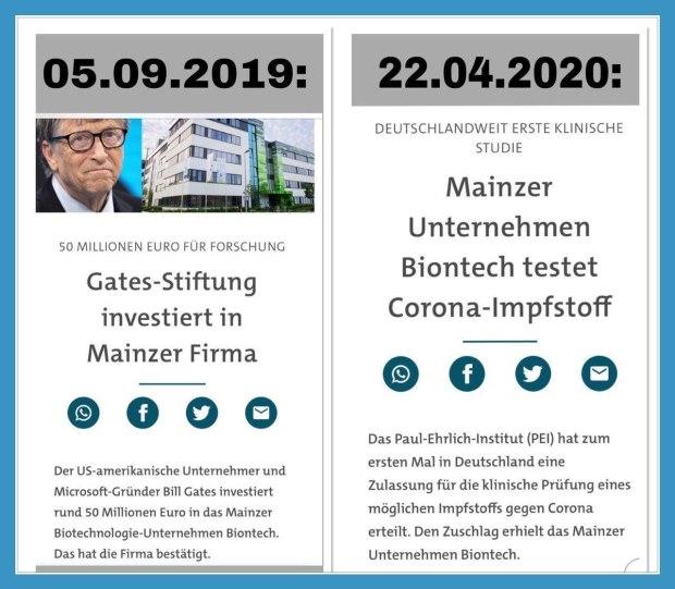 Gates Stiftung investiert in Mainzer Fa. Biontech