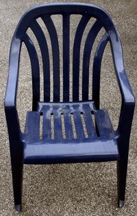 Stapelstuhl Gartenstuhl blau