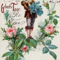 23 historische Geburtstagskarten mit Kindern