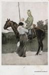1. Weltkrieg, Kavallerie Abschied von der Familie 1917