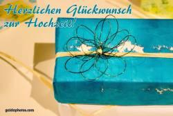 Hochzeitskarte Geschenk türkis