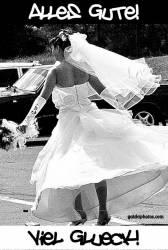 Hochzeitskarte Braut tanzt