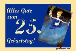 Karte 25. Geburtstag Barbie Puppe
