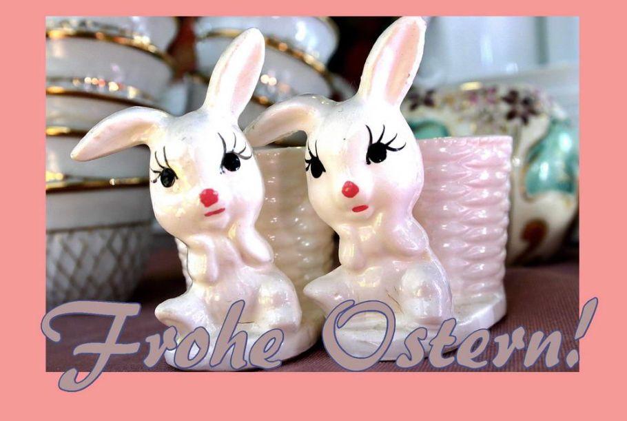 Lustig Osterkarte mit Osterhasen
