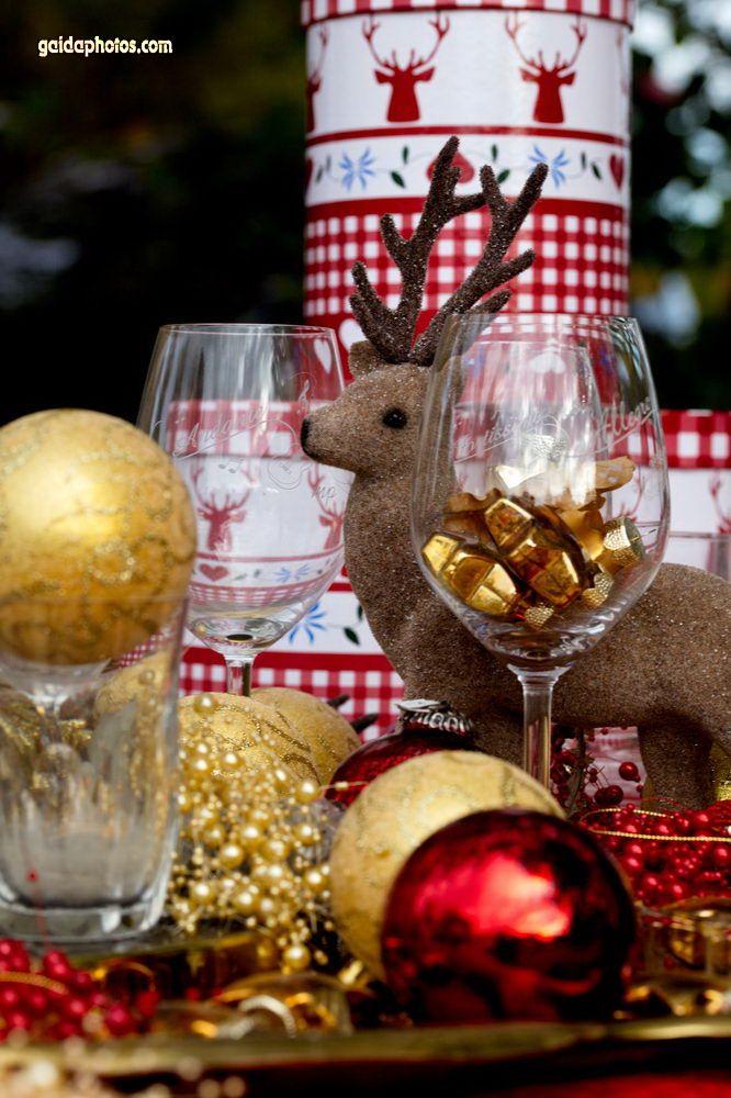 Lustiges Weihnachtsmotiv mit Rentier