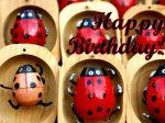 Geburtstagskarten auf Englisch Marienkäfer