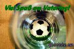 Vatertagskarte Fußball Biergals