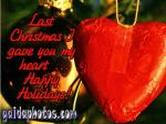 Weihnachtskarte in Englisch mit Herz