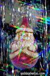Weihnachtsmann, Santa Claus mit Regenbogen