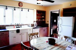 The kitchen at the house at Gaie Lea in Staunton, VA