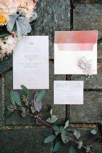 Invitations for a wedding at Gaie Lea in Staunton, Virginia