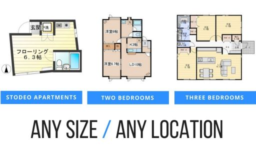 Apartments in any size and in any location In Tokyo.