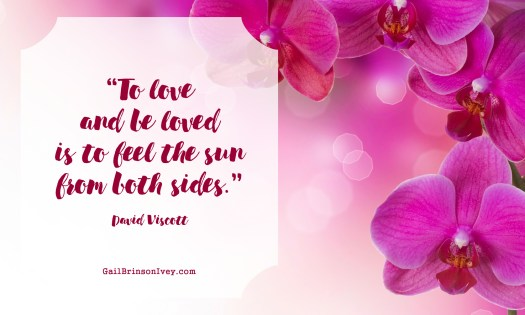 """To love and be loved is to feel the sun from both sides."" - David Viscott"