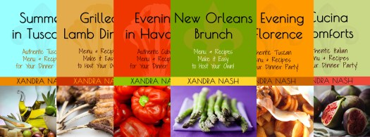 Dinner Parties by Xandra Nash recipe book covers