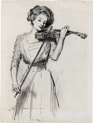 Gibson Girl drawing by Charles Dana Gibson