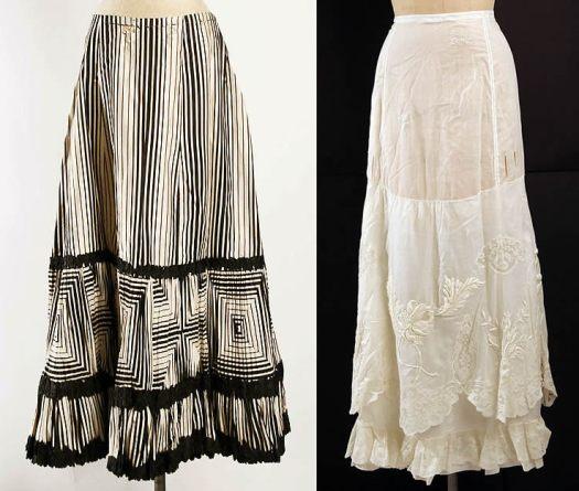 Edwardian petticoats