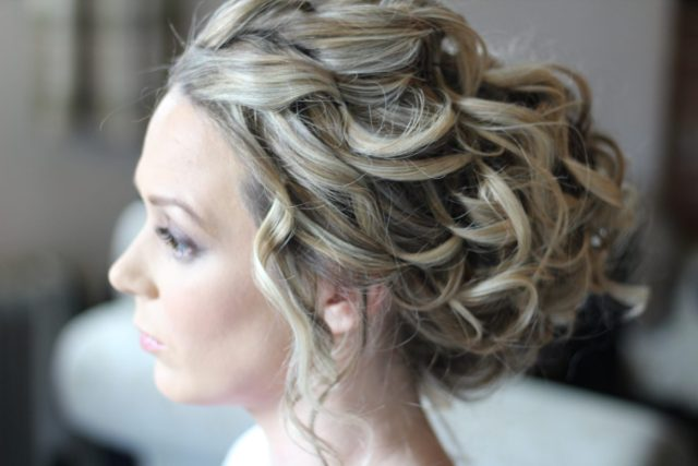 wedding hair at leez priory in essex - wedding hair and