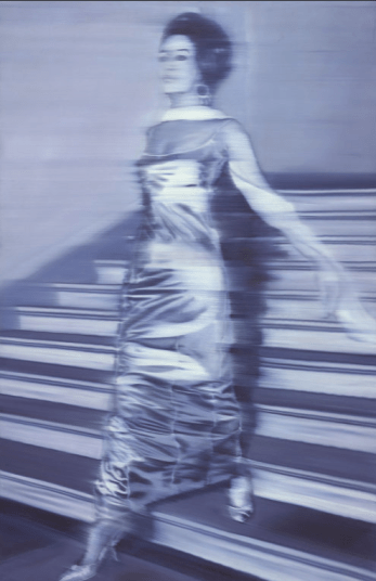 "Who are you as an artist? Gerhard Richter, ""Woman Descending the Staircase,"" 1965, oil on canvas, 79 x 51 in, Art Institute of Chicago"