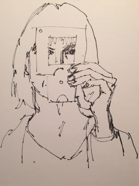 Daily Sketches: Self Portrait with view finder