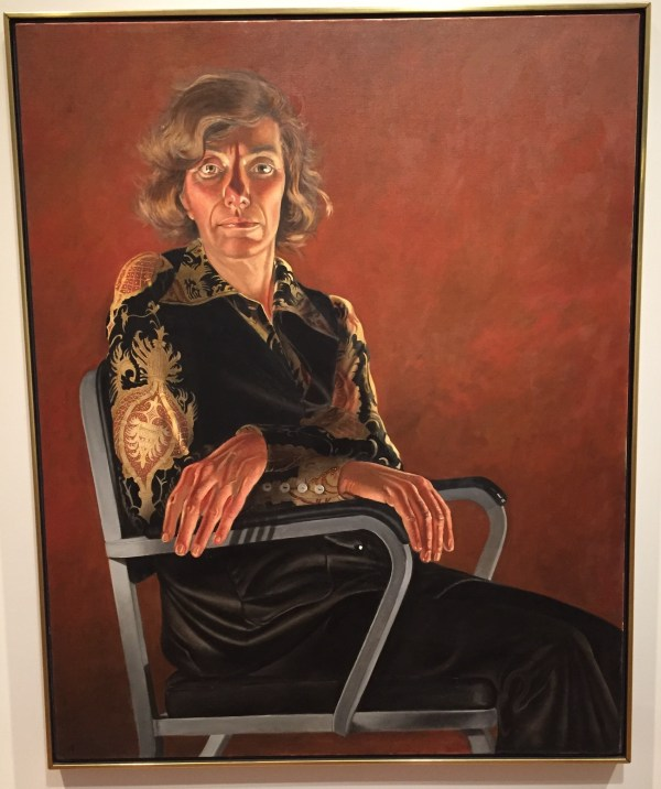 "Hands in Paintings (SAM): Alfred Leslie, ""Portrait (of Virginia Wright),"" oil on canvas, 61 3/4 x 49 5/8 in (156.8 x 126cm), Seattle Art Gallery."