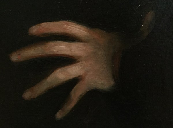 "Hands in Paintings (SAM): John Singer Sargent, ""Léon Delafosse,"" ca.1895-98, oil on canvas, 39 3/4 x 23 3/8 in (101 x 59.4 cm), Seattle Art Museum - Detail"