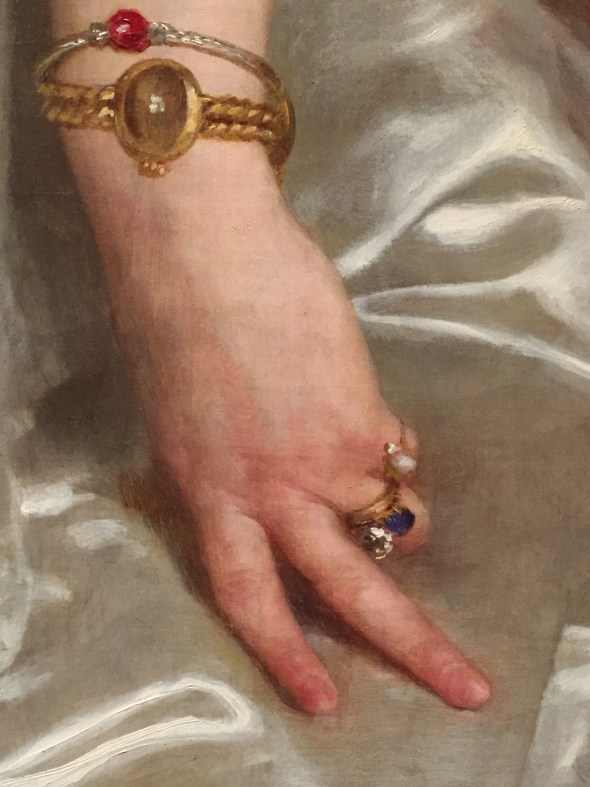 "Hands in Paintings (SAM): William Adolph Bouguereau, ""Portrait of Madame la Comtesse de Cambacérès,"" 1895, oil on canvas, 47 5/8 x 35 1/2 in (120.97 x 90.17 cm), Seattle Art Museum - Detail"