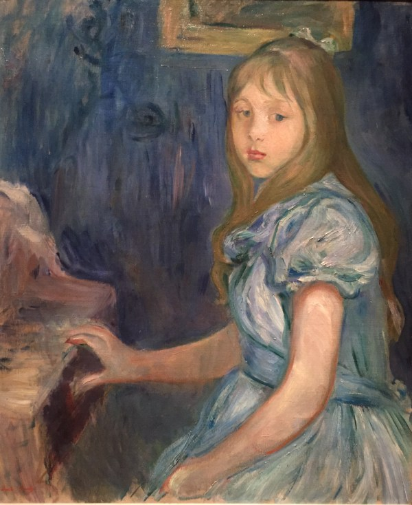 "Hands in Paintings (SAM): Berthe Morisot, ""Lucie Léon at the Piano, 1892, oil on canvas, 24 3/4 x 20 1/2 in (62.87 x 52.07 cm), Seattle Art Museum."