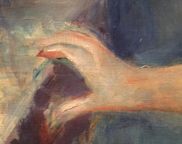 "Hands in Paintings (SAM): Berthe Morisot, ""Lucie Léon at the Piano, 1892, oil on canvas, 24 3/4 x 20 1/2 in (62.87 x 52.07 cm), Seattle Art Museum. - Detail"