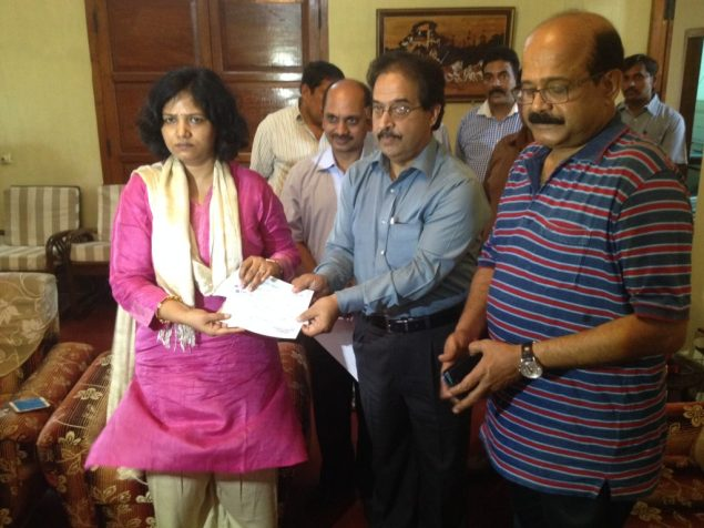 GAIL hands over Relief  compensation
