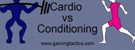 cardio vs conditioning