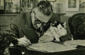 Jean Paul Sartre foto: writersandkitties.tumblr.com