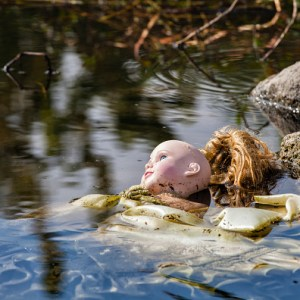 Discarded doll in the Los Angeles River
